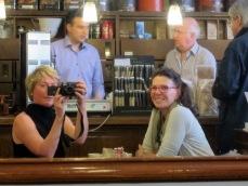 Selfie at Cafe Vervet - Best coffee in Paris